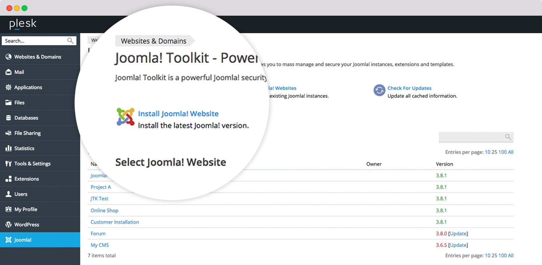 Joomla-Toolkit Screenshot